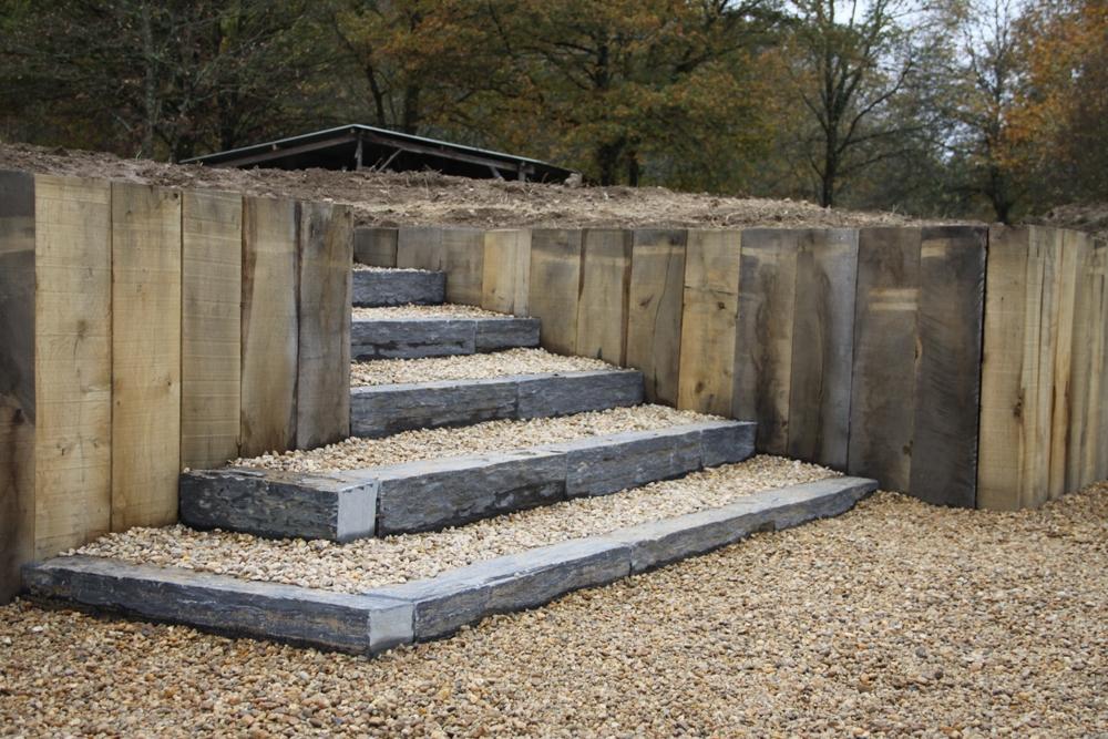 Escaliers berger paysage saumur for Escalier jardin bois