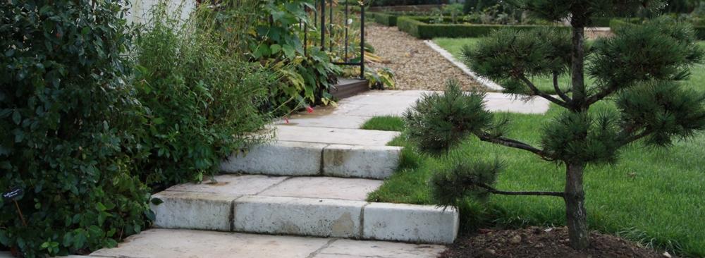 Escalier et maçonnerie paysagère